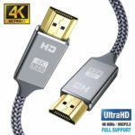 4K HDMI Cable 4.5M HDMI Lead/cord-Snowkids Ultra High Speed 18Gbps HDMI 2.0 Cable 4K@60Hz Compatible Fire TV