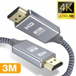 4K HDMI Cable 3M HDMI Lead-Snowkids Ultra High Speed 18Gbps HDMI 2.0 Cable 4K@60Hz Compatible Fire TV