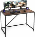 FITUEYES Computer Desk Wood Dark Oak Writing Table Workstation for Home Office 110x60x77cm BCD111001WB: Amazon.co.uk: Kitchen & Home