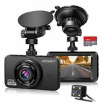 ORSKEY Dash Cam for Cars Front and Rear and SD Card: Amazon.co.uk: Electronics
