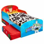 Disney Toy Story 4 Kids Toddler Bed with Storage Drawers by HelloHome