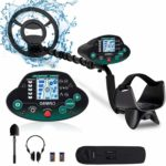 OMMO Metal Detector for Adults/Kids - High Sensitivity Waterproof Outdoor Metal Finder - Great Depth with 10 inch Search Coil