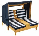 KidKraft 524 Wooden Double Chaise Lounge with Cupholder