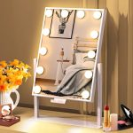 BESTOPE Hollywood Mirror with 3 Light Modes 12 LED Lights Vanity Mirror with Touch Control for Makeup Dressing Table