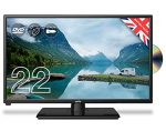 """Cello ZRTMF0222 Traveller 22"""" inch Full HD Traveller 12 V TV with DVD and Satellite Tuner Made in the UK            [Energy Class A]"""