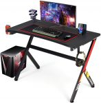 YODOLLA Gaming Desk 115cm x 58cm Gaming Table Home Computer Desk with Mouse Mat